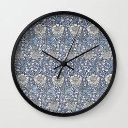William Morris Navy Blue Botanical Pattern 7 Wall Clock