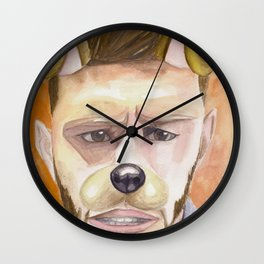Jensen Ackles, watercolor painting Wall Clock