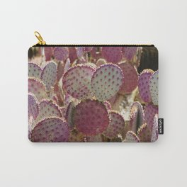 Purple Cactus Carry-All Pouch
