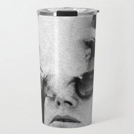 Cigar Smoker Cigar Lover JFK Gifts Black And White Photo Wall Art Travel Mug