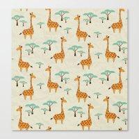 giraffes Canvas Prints featuring Giraffes by BlueLela