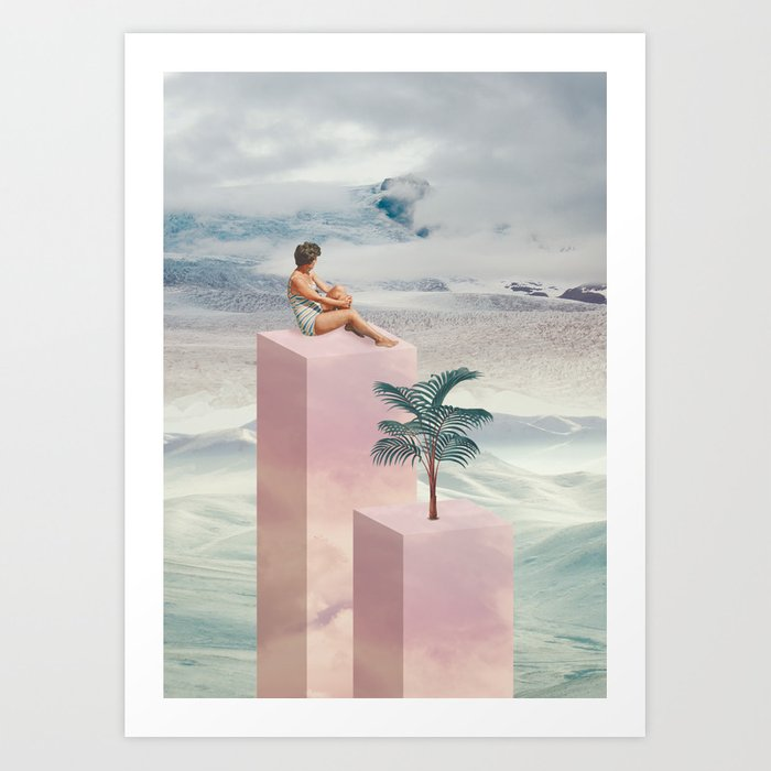 Digital Collage Art Print