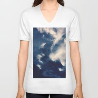 earth V-neck T-shirts featuring Earth  by Jane Lacey Smith