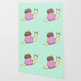Floral Snail Wallpaper