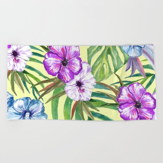 Tropical Summer #3 Beach Towel