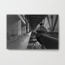 Under the bridge pipes Metal Print