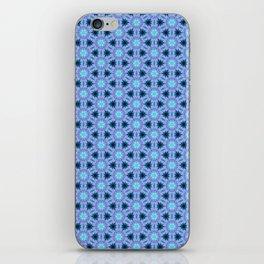 Purple Blue Fabric Cubes iPhone Skin
