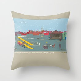 Wilbur and Orville Wright, 1903 (c) Throw Pillow