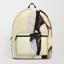 """Henri de Toulouse-Lautrec """"Yvette Gilbert before the curtain"""" Backpack"""