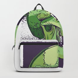 Dead skulls greenish Backpack