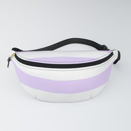 Chalky Pale Lilac Pastel and White Cabana Tent Stripes Fanny Pack