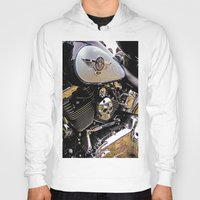 motorbike Hoodies featuring  Motorbike  by Scenic View Photography