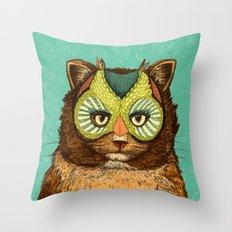 OwlCat Throw Pillow