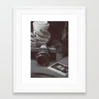 cafe Framed Art Prints featuring Cafe by Jessica Krzywicki