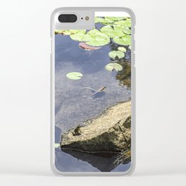 Froggy dreams Clear iPhone Case