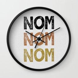 Nom Nom Nom Wall Clock