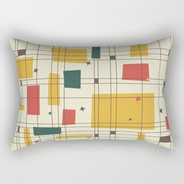 Mid-Century Modern (gold) Rectangular Pillow