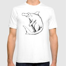 BearShark White Mens Fitted Tee SMALL