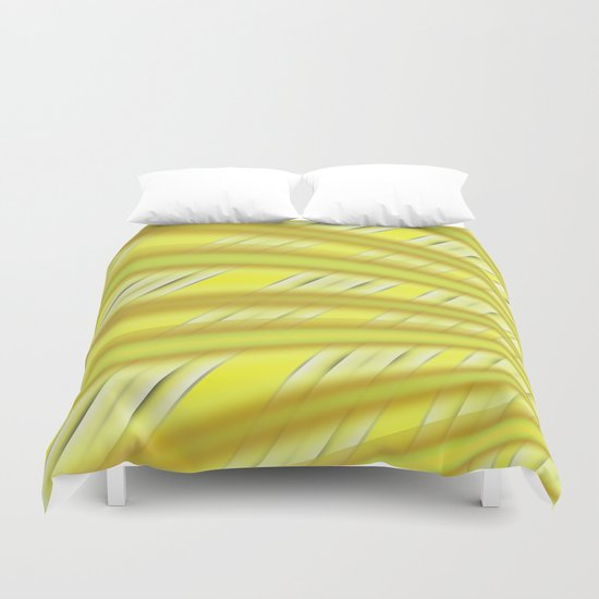 Fractal Play in Citruslicious Duvet Cover