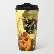 Halloween, funny pumpkins and skull Travel Mug