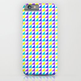 Mini Triangles Pattern Purple Blue Turquoise Yellow iPhone Case