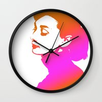 audrey Wall Clocks featuring Audrey by Bright Enough💡