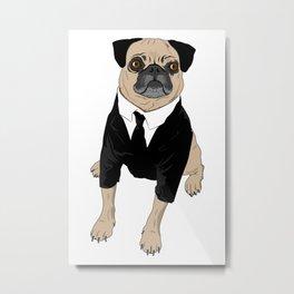 Frank the Pug Metal Print