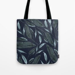 Leafy Vibes (Navy) Tote Bag