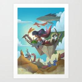 The Dreamteller of Joy Art Print