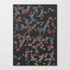 Rainbow Night Rain Canvas Print