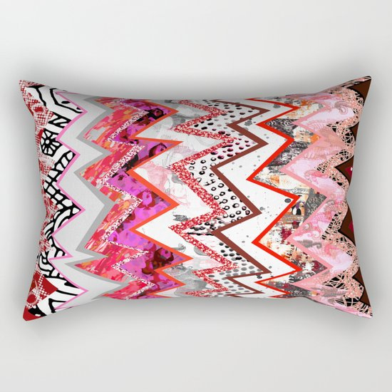 Love Heart Zigzags Rectangular Pillow