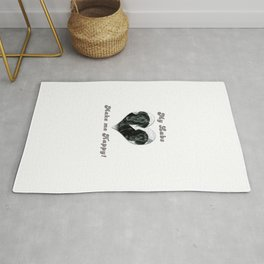 """Black Labrador """"My Labs Make me Happy"""" Rug"""