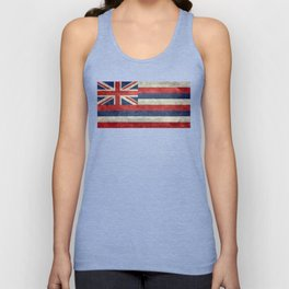 The State flag of Hawaii - Vintage version Unisex Tank Top