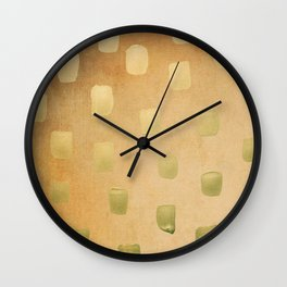 Golden Splotch Haze Wall Clock