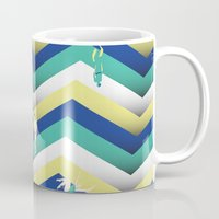swim Mugs featuring Swim by Salomé Milet