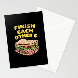 Finish Each Other's Sandwich Stationery Cards