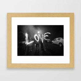 Long Exposure Love Framed Art Print