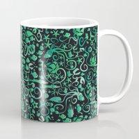 mermaids Mugs featuring Mermaids by hank