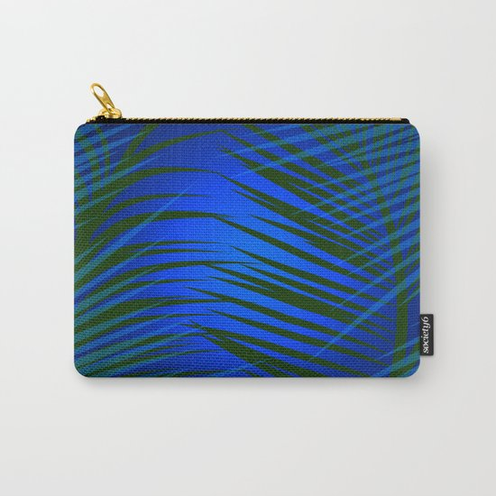 Tropical Palm in Dark Carry-All Pouch