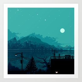 Dark Harbor Art Print