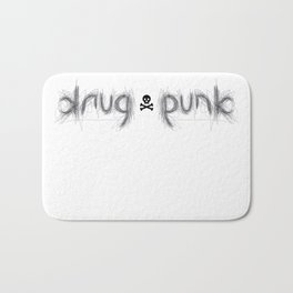DRUG PUNK ambigram Bath Mat