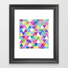 Triangle Print; Framed Art Print