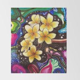 Yellow Plumerias Throw Blanket