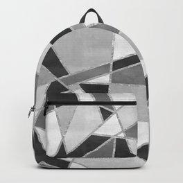 Abstract Color Block Watercolor Mosaic Backpack