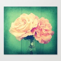roses Canvas Prints featuring Roses by 2sweet4words Designs