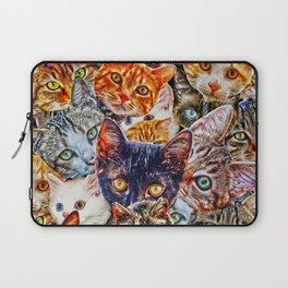 Kitty Cat Collage Laptop Sleeve