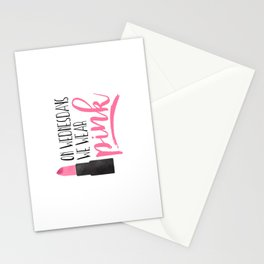 On Wednesdays We Wear Pink Stationery Cards