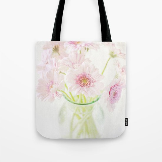 Pink Gerberas In A Vase {Light Textured Version} Tote Bag
