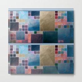 Serene Tiles Metal Print