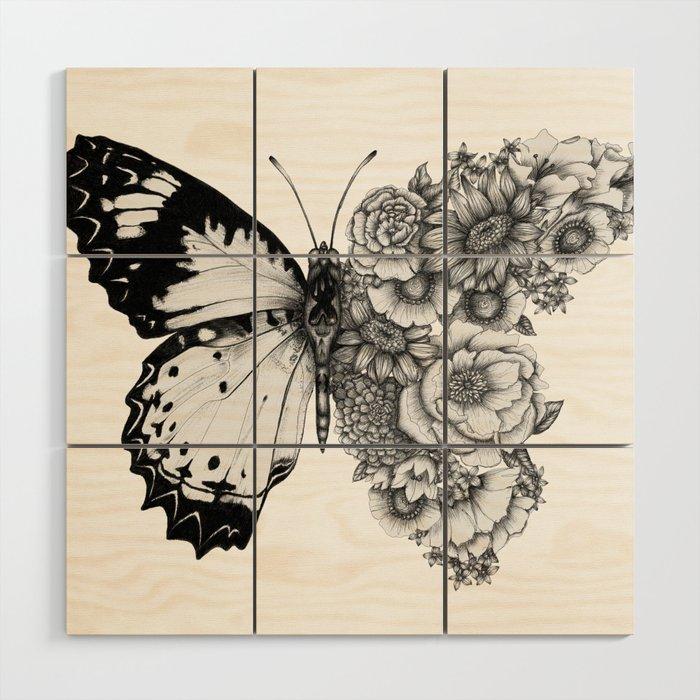 Butterfly in Bloom Wood Wall Art